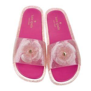 KATE SPADE NEW YORK  Glitter Jelly Slide Sandals 6